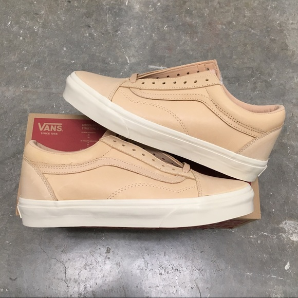 men's VANS OLD SKOOL DX VEGGIE TAN LEATHER NWT